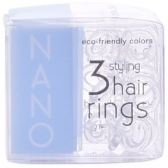 Elastiques pour Cheveux Nano Invisibobble Crystal Clear Hair Rings