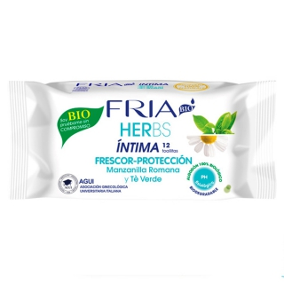 Lingettes Intimes Herbs Camomille Fria (12 uds)